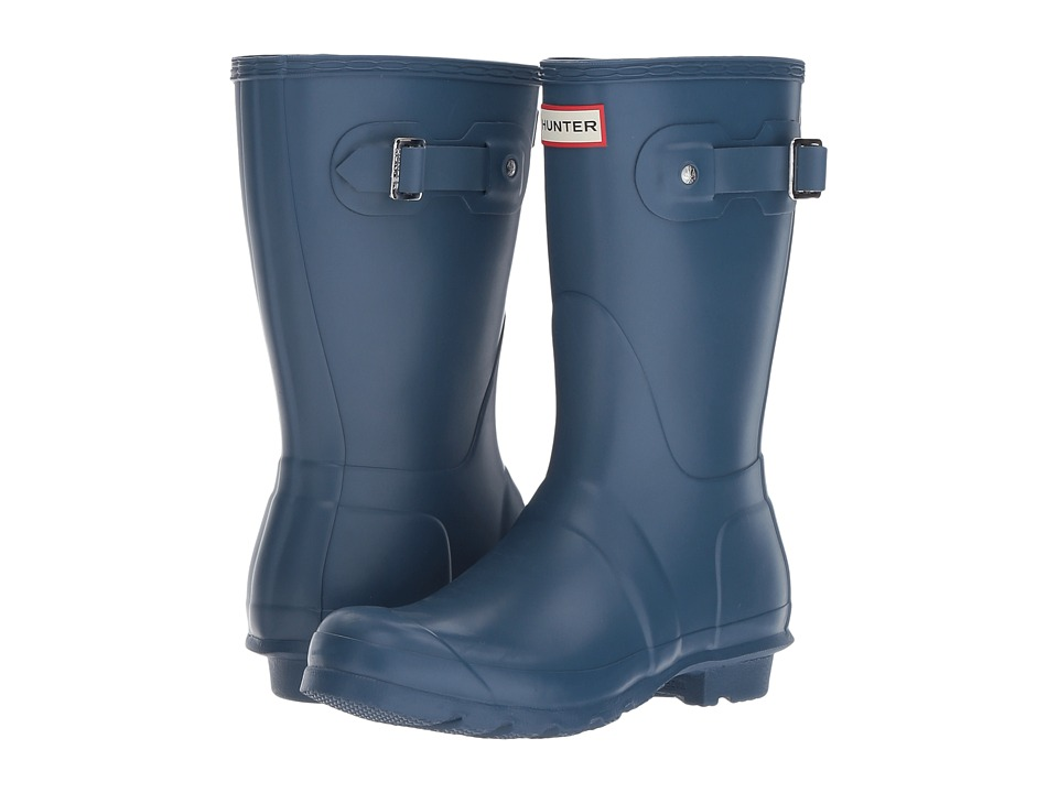 Hunter Original Short Rain Boots (Dark Earth Blue) Women