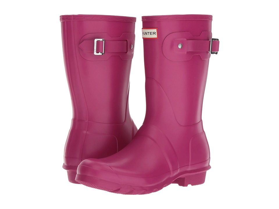 Hunter Original Short Rain Boots (Dark Ion Pink) Women