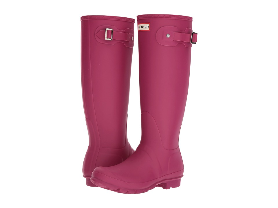 Hunter Original Tall Rain Boots (Dark Ion Pink) Women