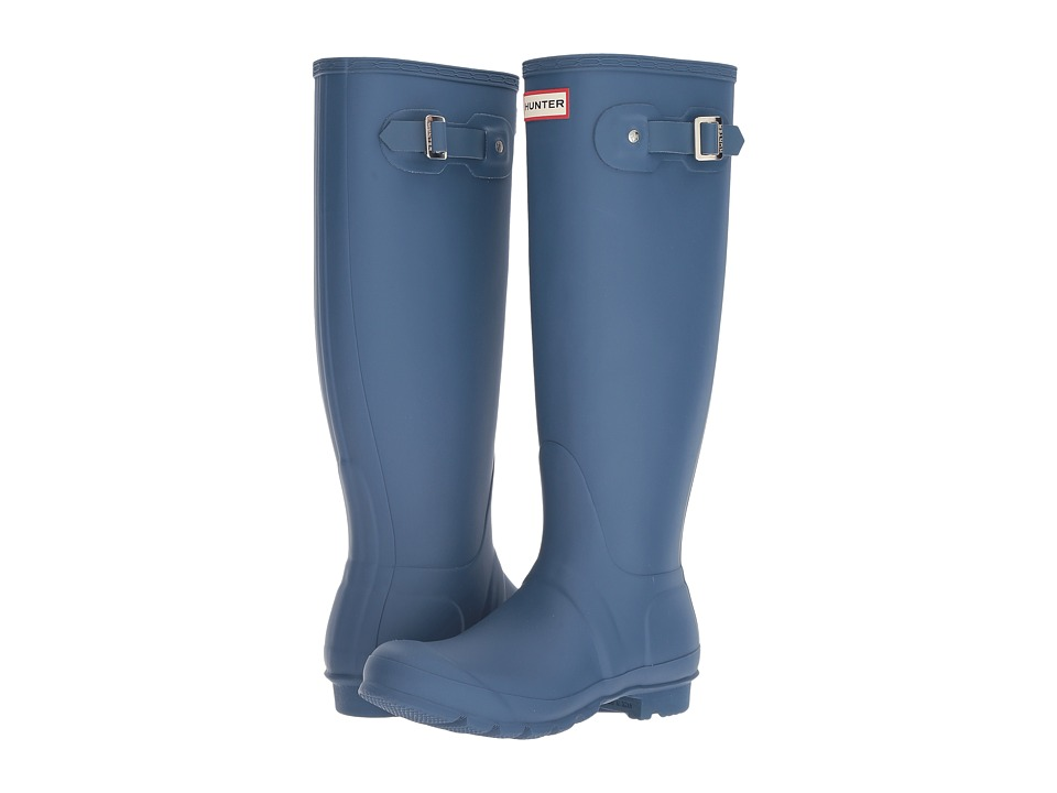 Hunter Original Tall Rain Boots (Dark Earth Blue) Women