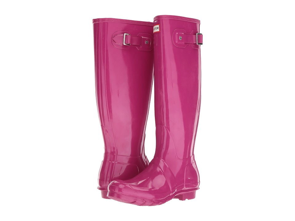 Hunter Original Tall Gloss (Dark Ion Pink) Women