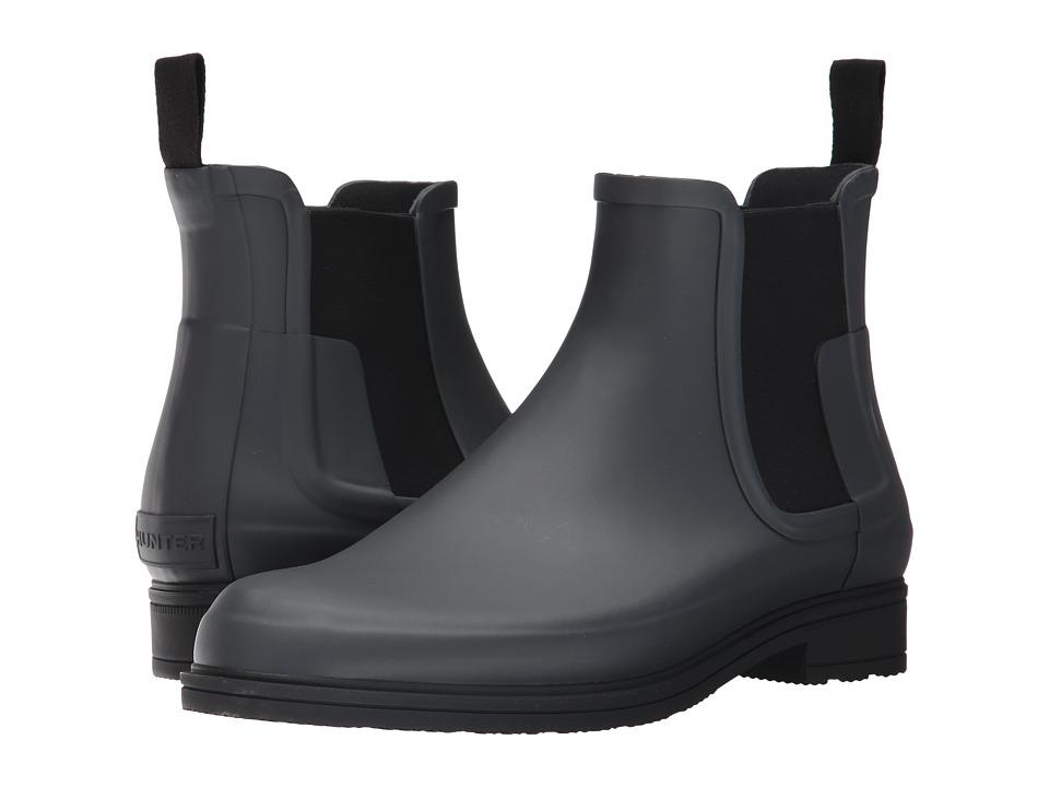 Hunter - Original Refined Dark Sole Chelsea Boots (Dark Slate/Black) Mens Boots
