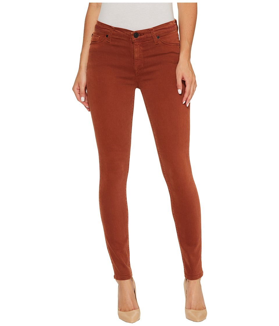 Hudson - Nico Mid-Rise Ankle Super Skinny in Distressed Sepia (Distressed Sepia) Womens Jeans