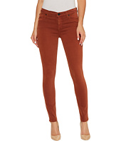 Hudson - Nico Mid-Rise Ankle Super Skinny in Distressed Sepia