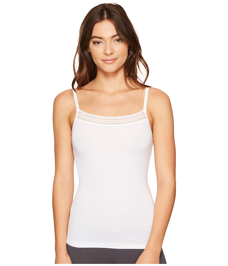 DKNY Intimates - New Classic Cotton Lace Trim Cami (Poplin White) Womens Sleeveless