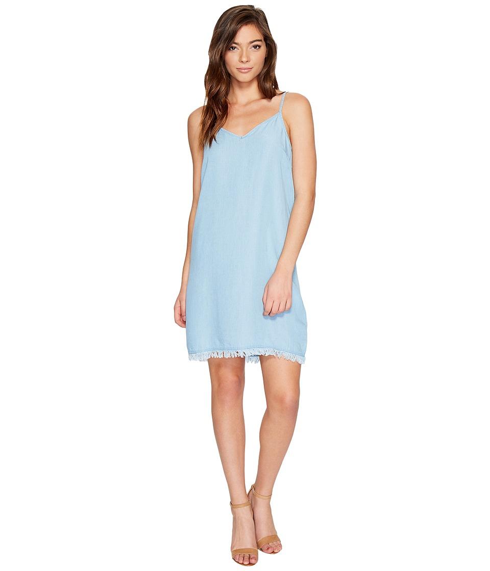 Splendid Chambray Crepe Slip Dress (Light Wash) Women