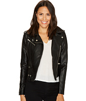ROMEO & JULIET COUTURE - Pocket Detailed Leather Jacket