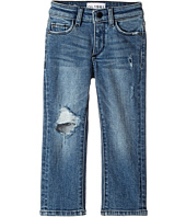 DL1961 Kids - Light Wash Distressed Skinny Jeans in Crater Lake (Toddler/Little Kids/Big Kids)