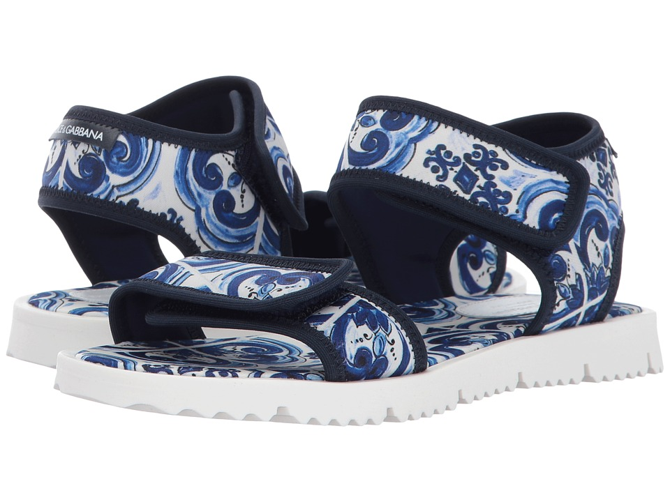 Dolce + Gabbana Kids Capri Flip-Flop (Little Kid/Big Kid) (Blue) Kids Shoes