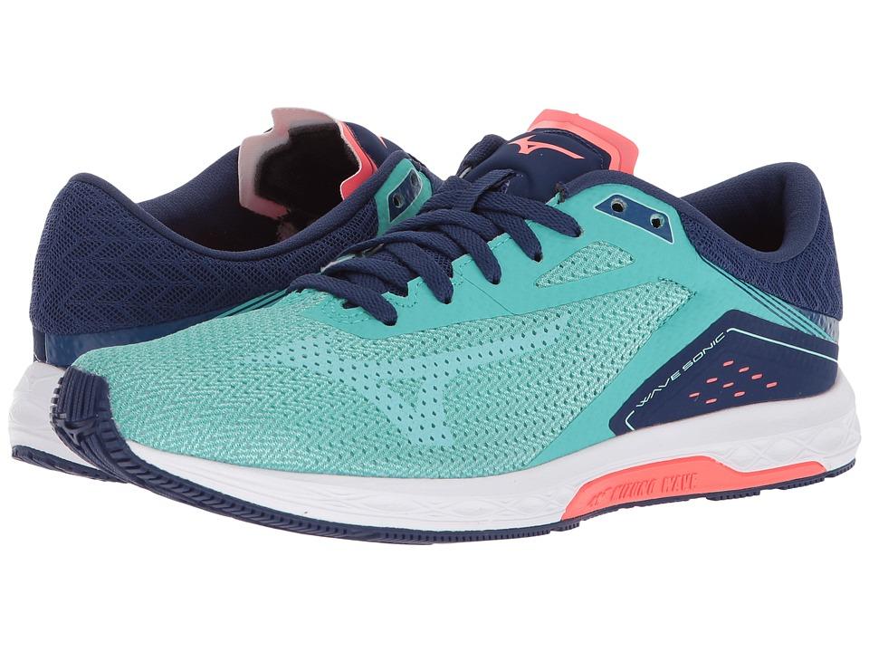 Mizuno Wave Sonic (Turquoise/Yucca) Women's Running Shoes