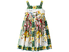 Dolce & Gabbana Kids - Caltagirone Vase Print Poplin Dress (Big Kids)