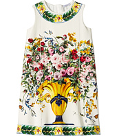 Dolce & Gabbana Kids - Caltagirone Vase Print Interlock Dress (Toddler/Little Kids)