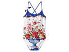 Dolce & Gabbana Kids - Caltagirone Printed Swimsuit (Big Kids)