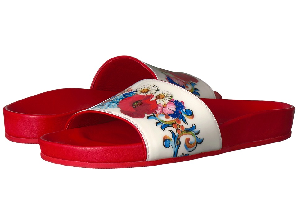 Dolce + Gabbana Kids Caltagirone Sandal (Little Kid/Big Kid) (Red) Girls Shoes