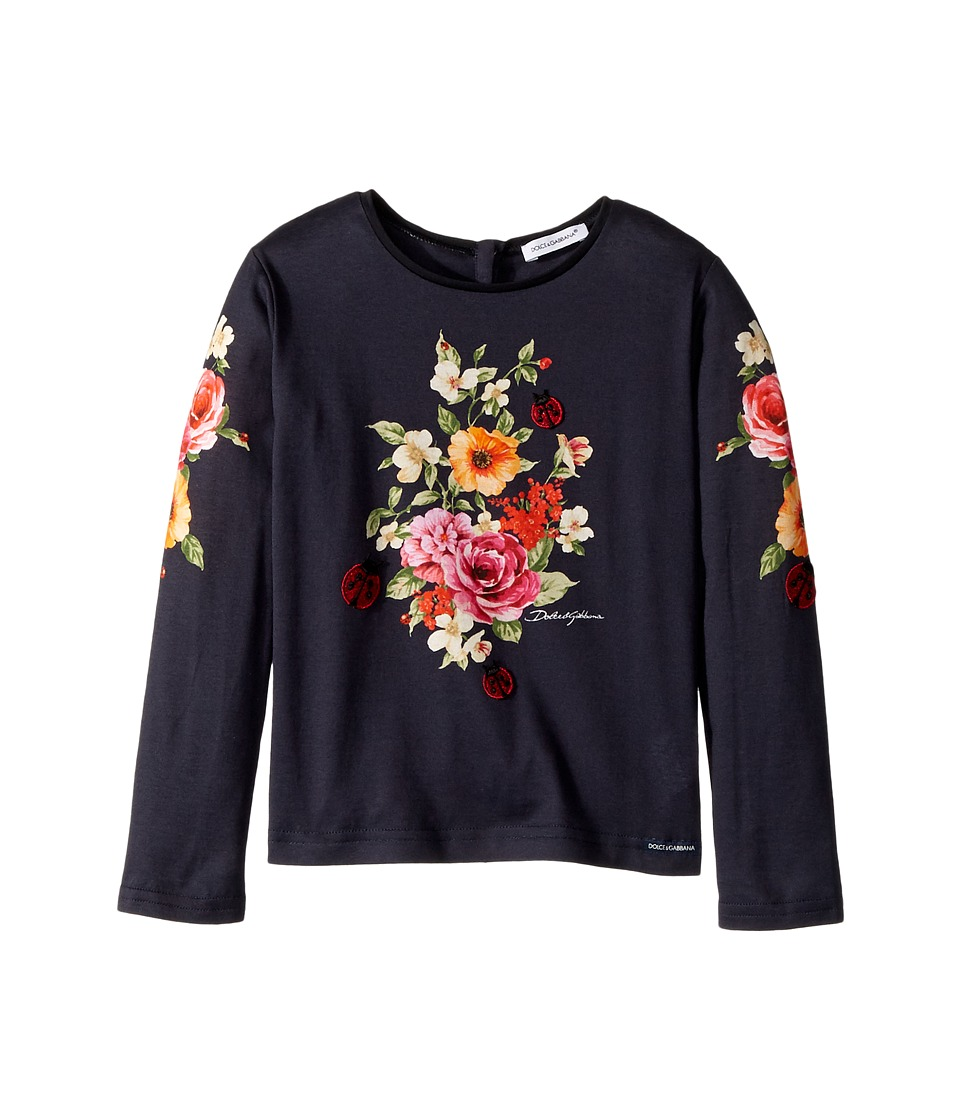 Dolce & Gabbana Kids - Back to School Floral Long Sleeve T