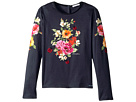 Dolce & Gabbana Kids Back to School Floral Long Sleeve T-Shirt (Big Kids)