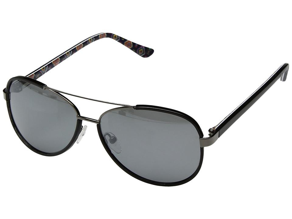 Vera Bradley Gracie (Mini Medallions/Black) Fashion Sunglasses