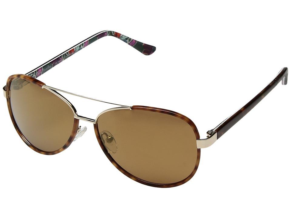 Vera Bradley Gracie (Falling Flowers/Tortoise) Fashion Sunglasses