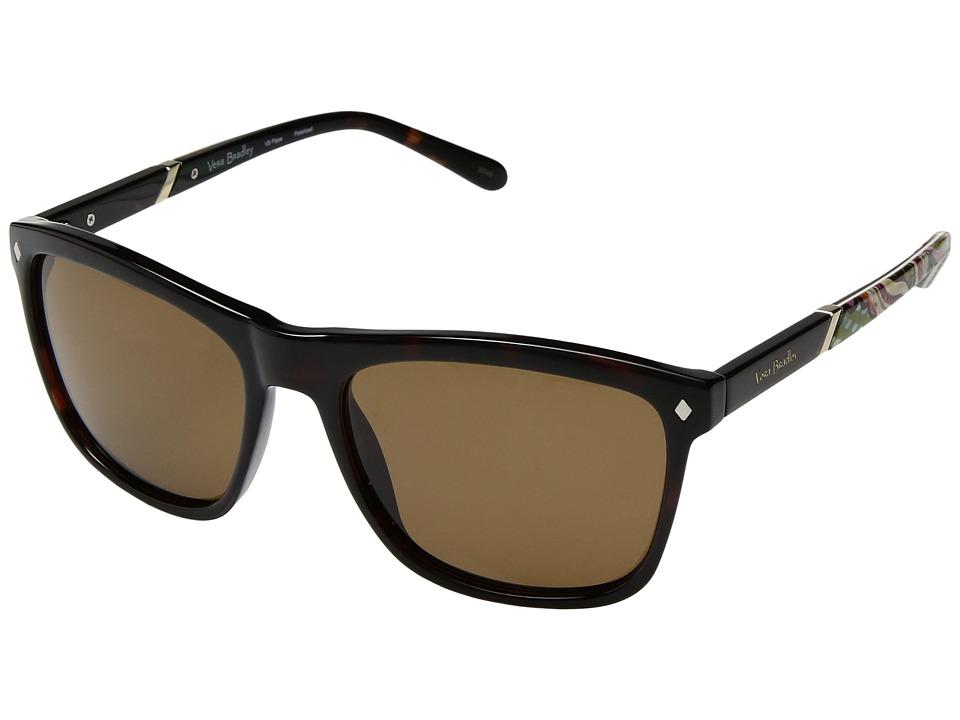 Vera Bradley Pippa (Heirloom Paisley/Tortoise) Fashion Sunglasses