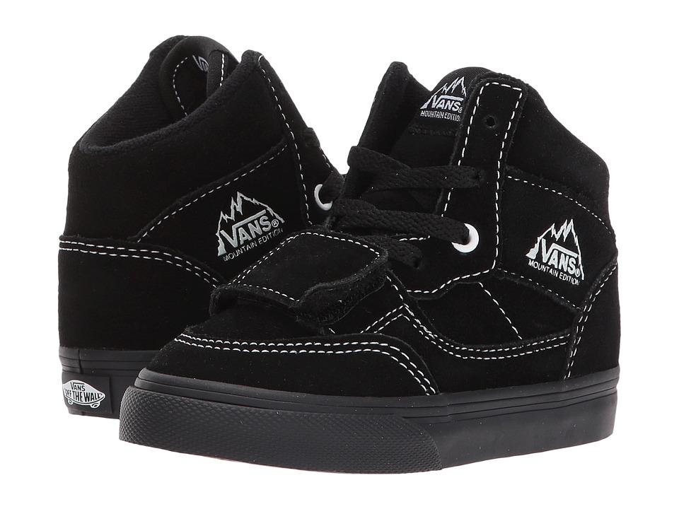 Vans Kids Mountain Edition (Toddler) ((Suede) Black/Black) Boy's Shoes