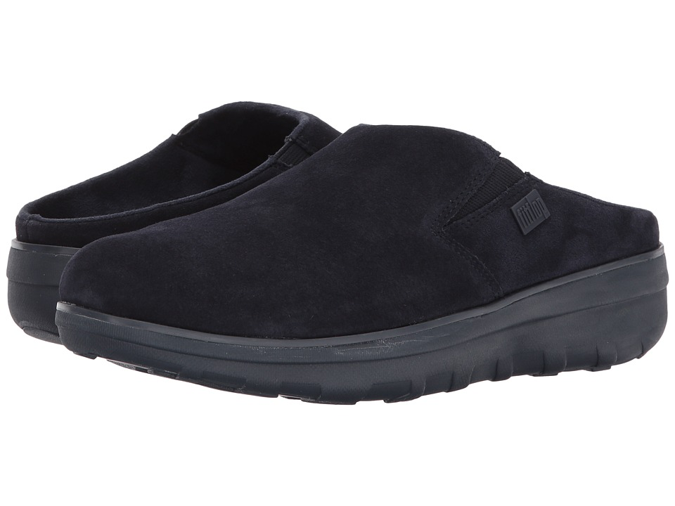 FitFlop Loaff Suede Clogs (Supernavy) Women
