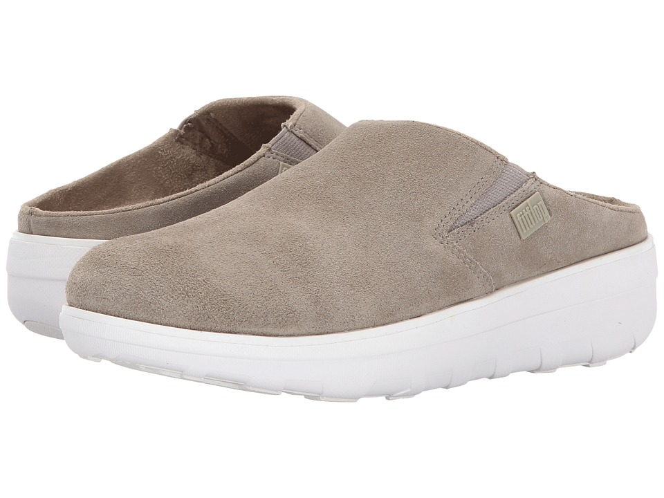 FitFlop Loaff Suede Clogs (Timberwolf) Women