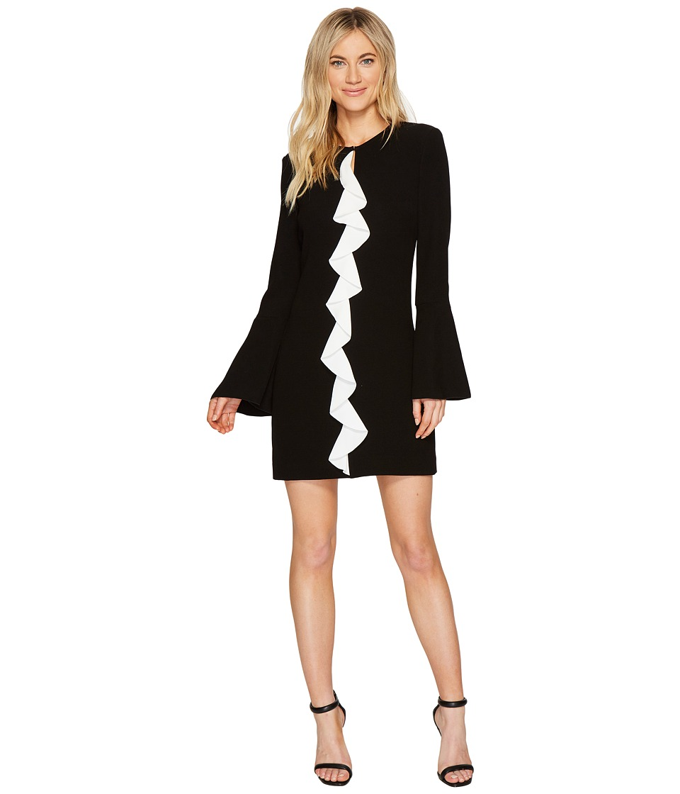Rachel Zoe Stretch Crepe Monner Dress (Black/White) Women