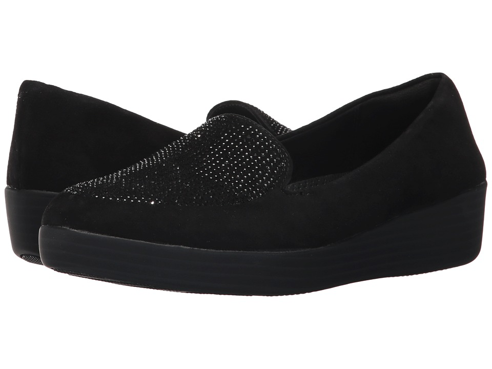 FitFlop - Sparkly Sneakerloafer (Black) Womens  Shoes