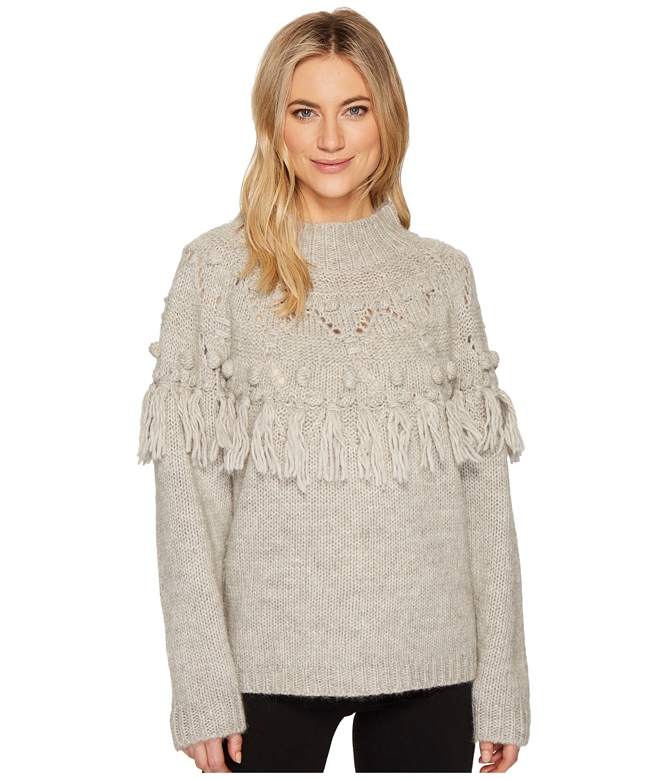 Rachel Zoe Shirley Knit Sweater (Soft Grey) Women