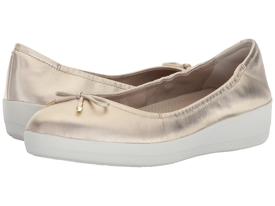 FitFlop Superbendy Ballerinas (Pale Gold) Women