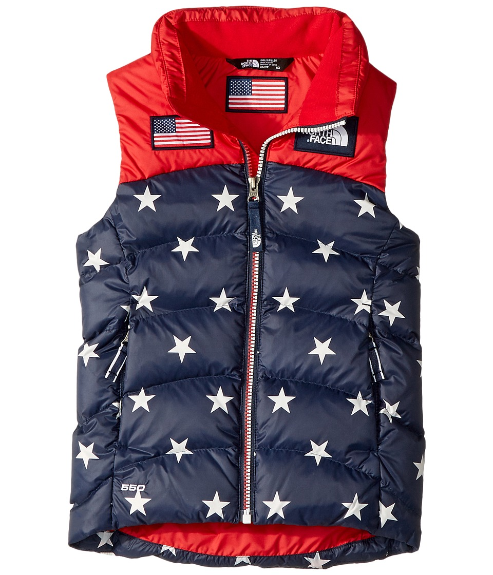 The North Face Kids International Collection Nuptse Vest (Little Kids/Big Kids) (Cosmic Blue Heather) Girl