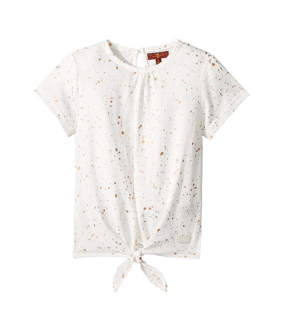 7 For All Mankind Kids - Short Sleeve Tie-Front Tee