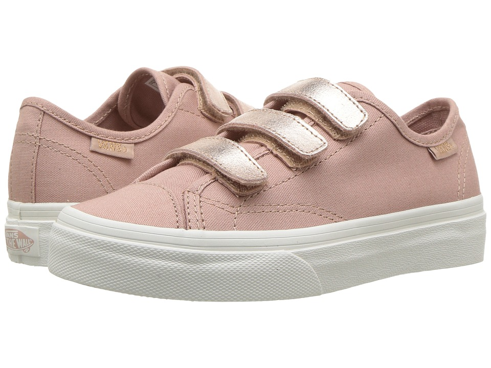 Vans Kids Style 23 V (Little Kid/Big Kid) ((Two-Tone Metallic) Metallic/Rose Gold) Girl's Shoes
