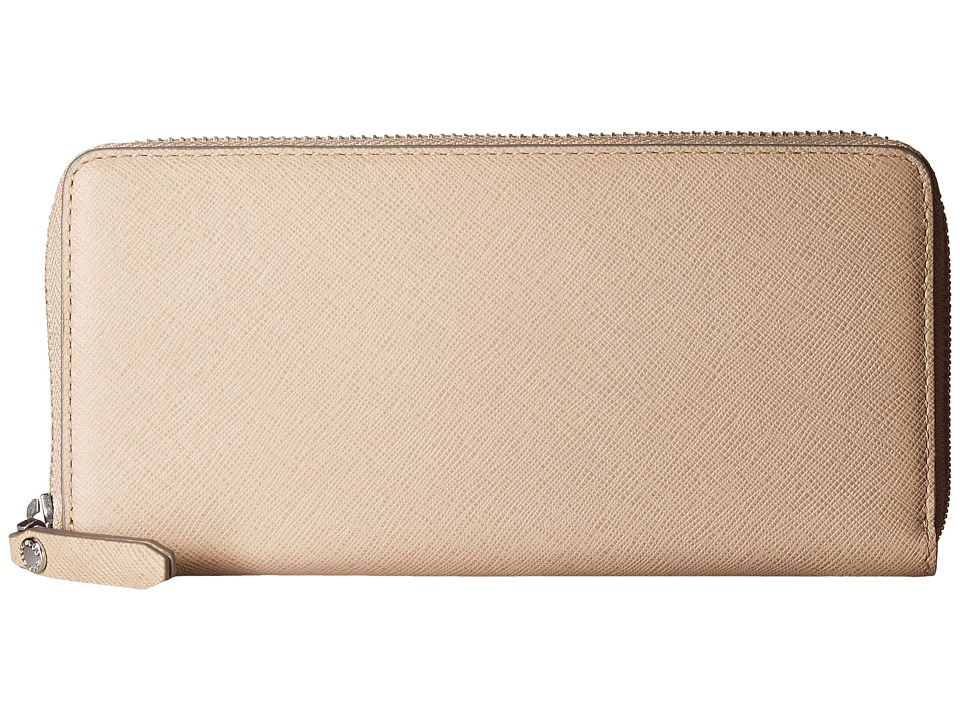ECCO - Iola Large Zip Wallet (Dune) Wallet Handbags