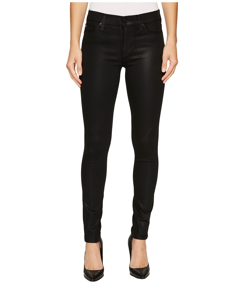 Hudson Nico Mid-Rise Super Skinny in Noir Coated (Noir Coated) Women