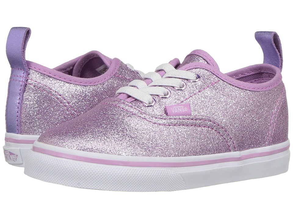 Vans Kids Authentic Elastic Lace (Toddler) ((Glitter + Metallic) Lilac) Girls Shoes