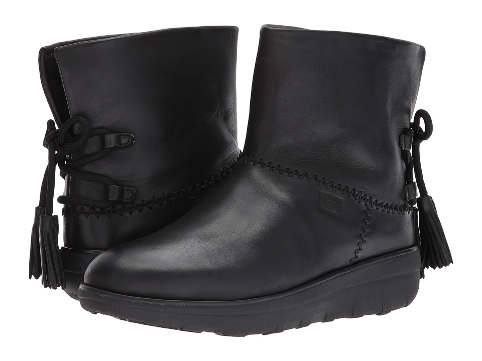 FitFlop Mukluk Shorty II Boots w/ Tassels (All Black) Women