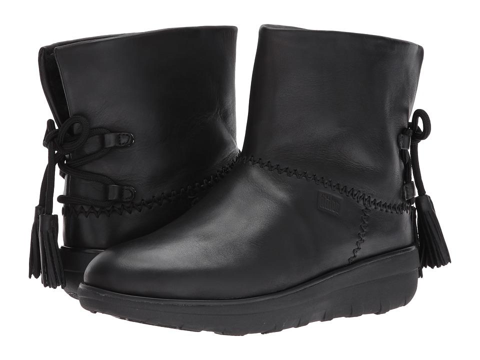 FitFlop Mukluk Shorty II Boots w/ Tassels (All Black) Women