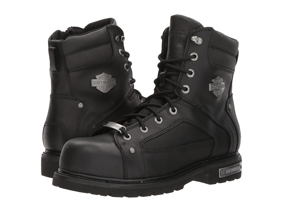 Harley-Davidson - Abercorn Composite Toe (Black) Mens Lace-up Boots