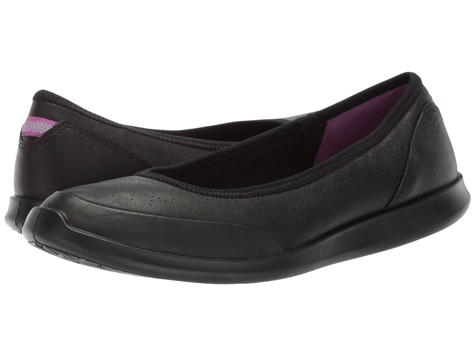 ECCO Sense Flat (Black Yak Leather) Flats