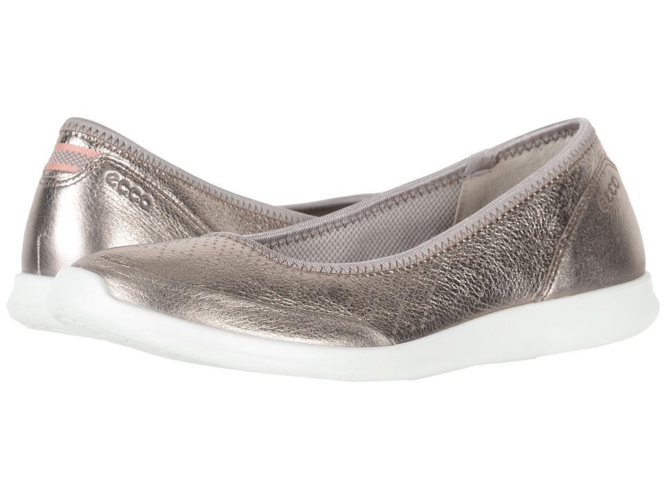 ECCO Sense Flat (Warm Grey Cow Leather) Flats