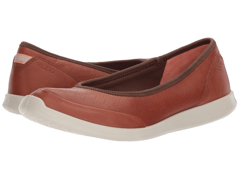 ECCO Sense Flat (Mahogany Cow Leather) Flats