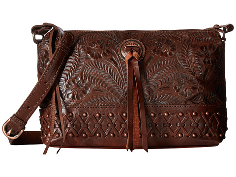 American West Dove Canyon Crossbody - Chestnut Brown