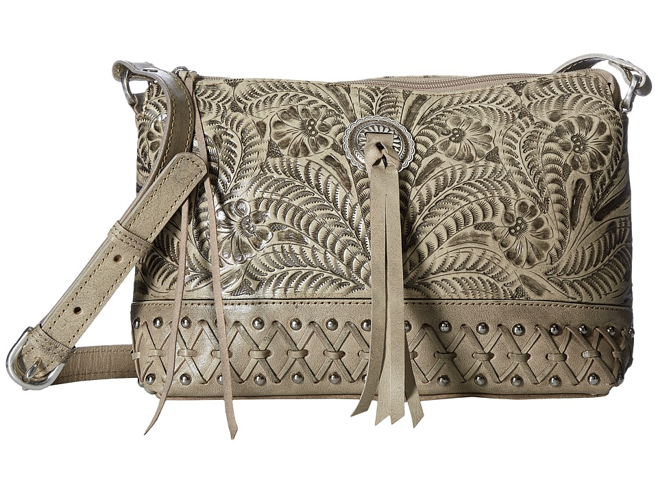 American West Dove Canyon Crossbody (Sand) Cross Body Han...