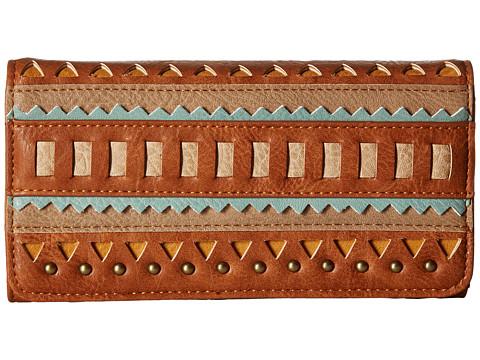 American West El Dorado Flap Wallet - Tan