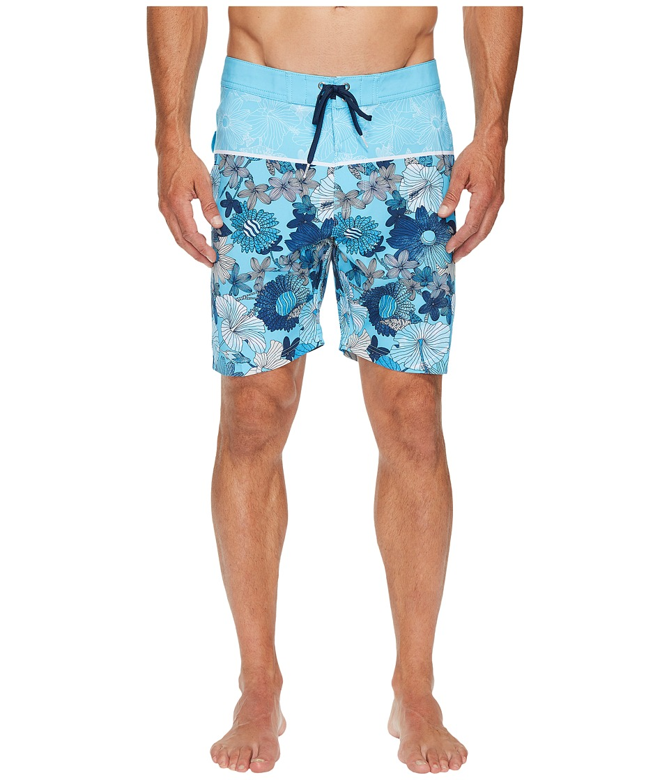 VISSLA Lahaina Four-Way Stretch Boardshorts 18.5 (Light Blue) Men