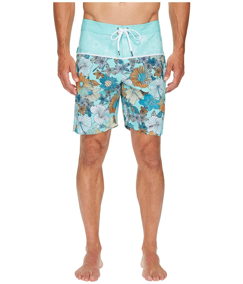VISSLA Lahaina Four-Way Stretch Boardshorts 18.5 (Jade) Men