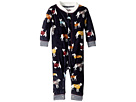 P.J. Salvage Kids Fleece Sweater Dogs Romper (Infant)