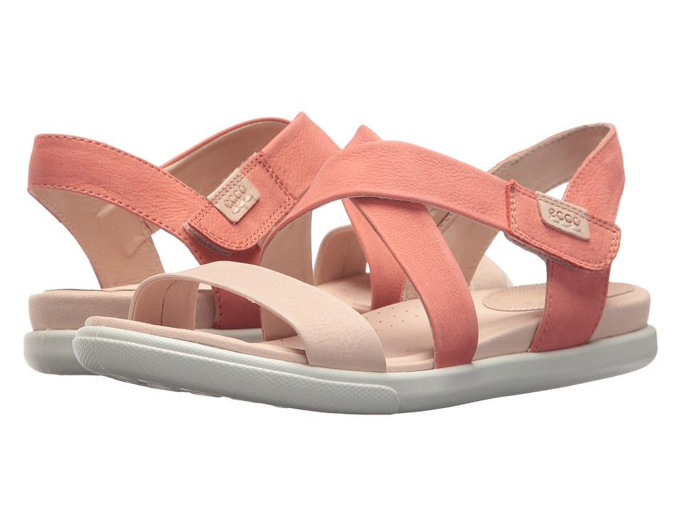 ECCO - Damara Crisscross Sandal (Rose Dust/Coral Cow Nubuck) Women's Sandals