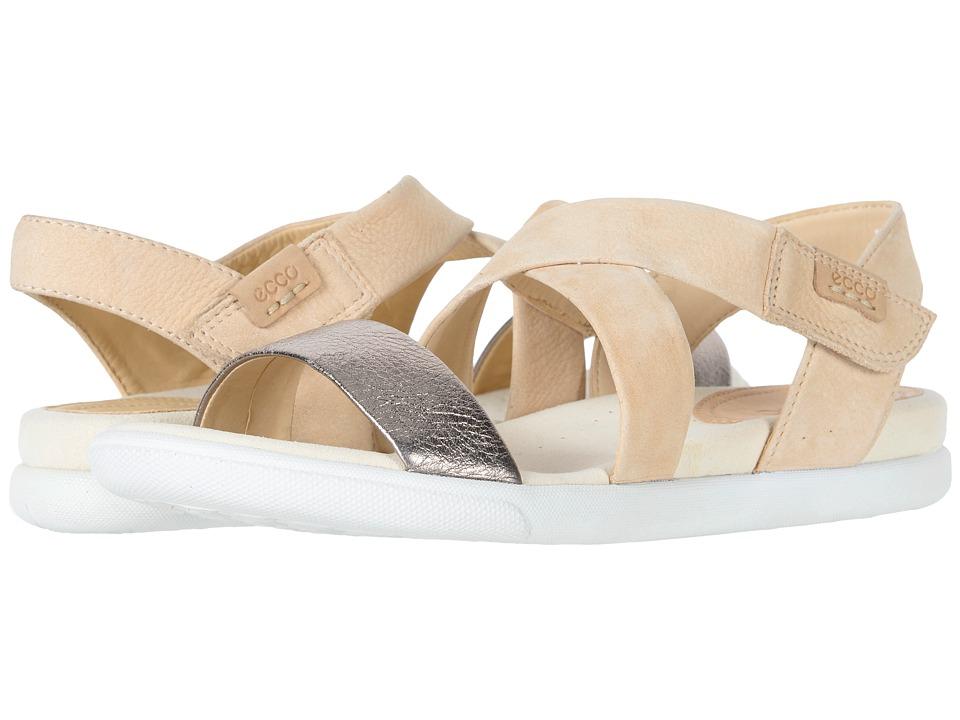 ECCO Damara Crisscross Sandal (Warm Grey/Powder Cow Leather/Cow Nubuck) Women